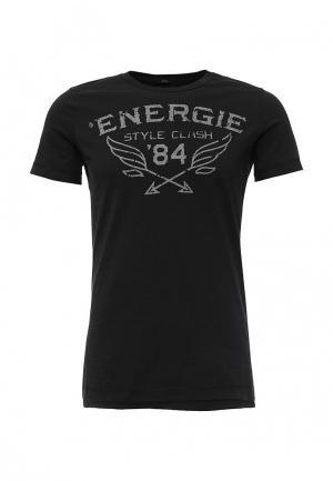 Футболка Energie. Цвет: черный