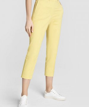 Прямые брюки-чиносы из хлопка O`Stin. Цвет: светло-желтый