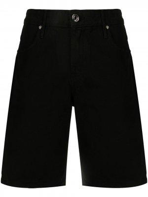 Джинсовые шорты прямого кроя RtA. Цвет: черный