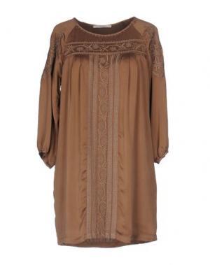 Короткое платье ALPHA STUDIO. Цвет: хаки