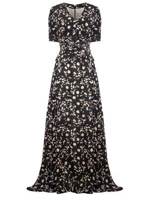 Шелковое платье с принтом CAROLINA HERRERA. Цвет: разноцветный