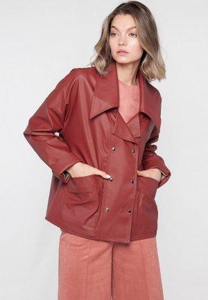 Куртка кожаная Limonti. Цвет: красный