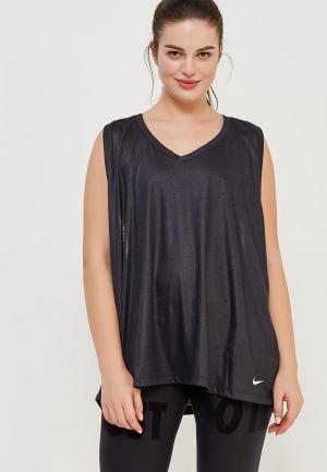 Майка спортивная Nike Womens Breathe Training Tank. Цвет: серый