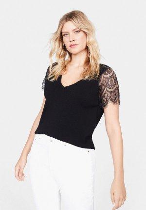 Блуза Violeta by Mango - GRACE. Цвет: черный