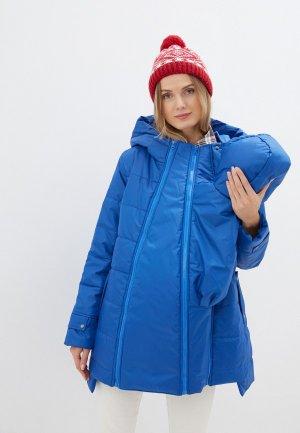 Куртка утепленная Мамуля красотуля ..в ожидании чуда. Цвет: синий