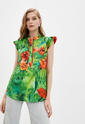 Блуза Marciano Los Angeles. Цвет: зеленый