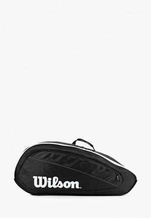 Сумка спортивная Wilson FED TEAM 12 PACK. Цвет: черный
