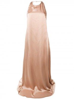 Длинное вечернее платье Rochas. Цвет: коричневый