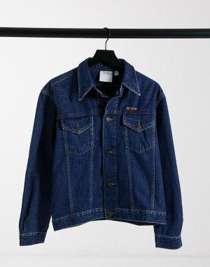 Темно-синяя джинсовая куртка EST 1978-Голубой Calvin Klein