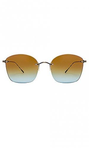 Солнцезащитные очки marlien Oliver Peoples. Цвет: синий