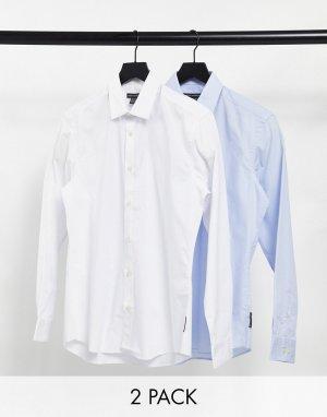 Набор из 2 приталенных классических рубашек -Синий French Connection