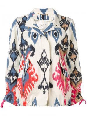 Куртка-бомбер с этническим принтом Bazar Deluxe. Цвет: нейтральные цвета