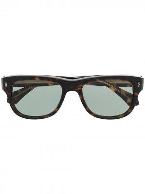 Солнцезащитные очки в оправе черепаховой расцветки Cartier Eyewear. Цвет: коричневый