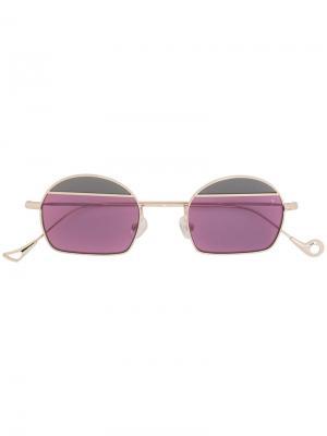 Круглые солнцезащитные очки Eyepetizer. Цвет: металлический