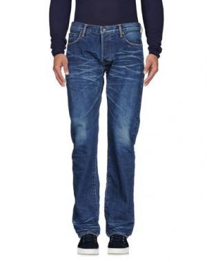 Джинсовые брюки KURO. Цвет: синий