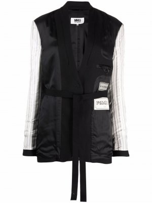 Reversible single-breasted jacket MM6 Maison Margiela. Цвет: черный