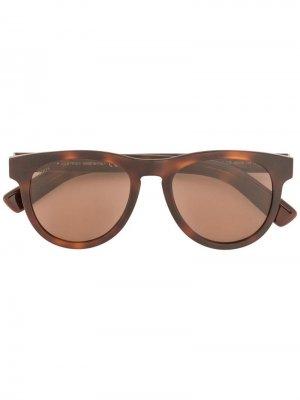 Tods солнцезащитные очки с плетеной деталью Tod's. Цвет: коричневый
