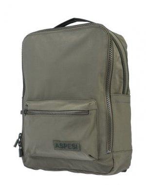 Рюкзаки и сумки на пояс ASPESI. Цвет: зеленый-милитари