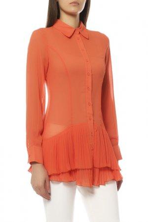 Блуза EXETERA. Цвет: оранжевый