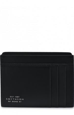 Кожаный футляр для кредитных карт Smythson. Цвет: темно-синий