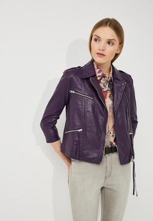 Куртка кожаная Blouson. Цвет: фиолетовый