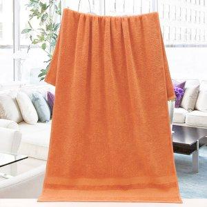 1шт Ванное полотенце SHEIN. Цвет: оранжевый