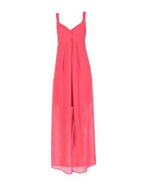 Длинное платье CLUB VOLTAIRE. Цвет: коралловый