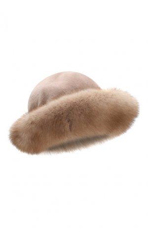 Шляпа из меха норки и соболя Kussenkovv. Цвет: бежевый