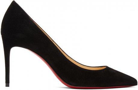 Black Suede Kate 85 Heels Christian Louboutin. Цвет: bk01 black
