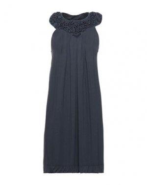 Короткое платье HOTEL PARTICULIER. Цвет: темно-синий