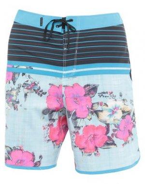 Пляжные брюки и шорты HURLEY. Цвет: небесно-голубой
