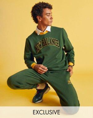 Зеленый свитшот в стиле университетской спортивной формы – эксклюзивно для ASOS New Balance