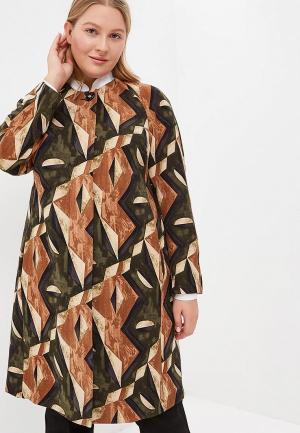 Пальто Olsi. Цвет: коричневый