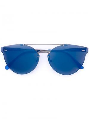 Солнцезащитные очки с массивной оправой Retrosuperfuture. Цвет: синий