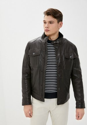 Куртка кожаная Strellson S.C.Bedano. Цвет: коричневый