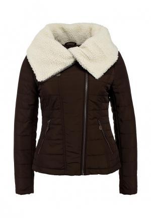 Куртка утепленная Lawine. Цвет: коричневый