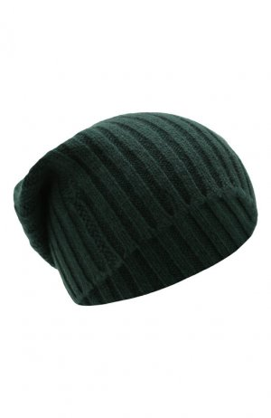 Кашемировая шапка Allude. Цвет: зелёный