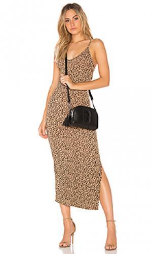 Платье-майка licorice printed Indah. Цвет: коричневый
