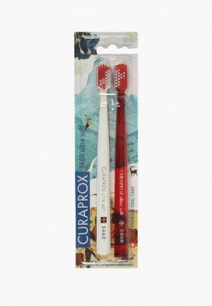 Комплект зубных щеток Curaprox ultrasoft Duo Swiss, d 0,10 мм (2 шт.). Цвет: разноцветный