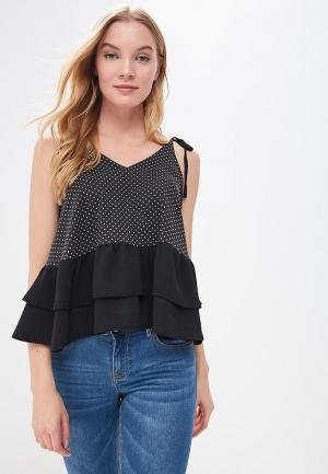 Топ Lost Ink SPOTTED CAMI WITH WOVEN HEM. Цвет: черный