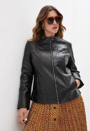 Куртка кожаная Le Monique IPACBL08LS20. Цвет: черный