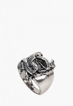 Кольцо Красная Жара. Цвет: серебряный