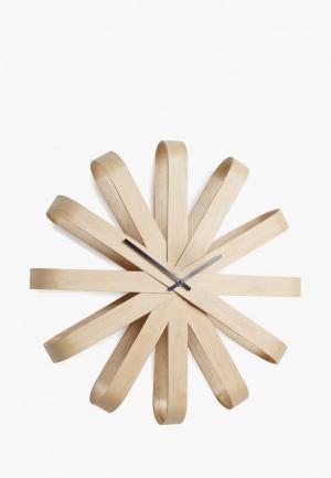 Часы настенные Umbra Ribbon. Цвет: коричневый
