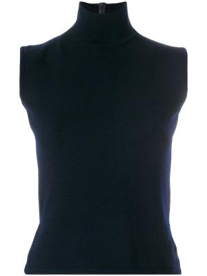Вязаный топ с высоким горлом Christian Dior Pre-Owned. Цвет: синий