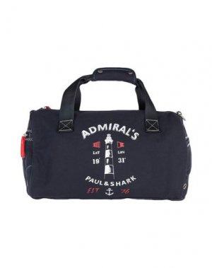 Дорожная сумка PAUL & SHARK. Цвет: темно-синий
