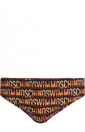 Плавки с принтом Moschino. Цвет: оранжевый