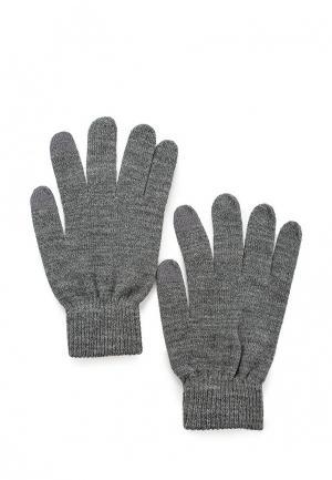 Перчатки Pieces. Цвет: серый