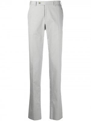 Прямые брюки Canali. Цвет: серый