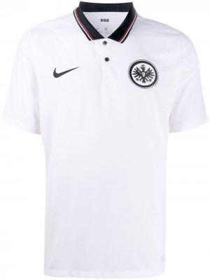Рубашка поло Eintracht Frankfurt 2020/21 Stadium Away Nike. Цвет: белый