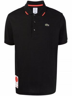Рубашка поло с вышитым логотипом Lacoste. Цвет: черный